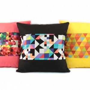 Bright geometric cushions