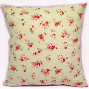 Green red floral pillow cushion