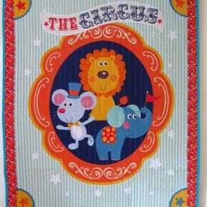 Circus childrens quilt