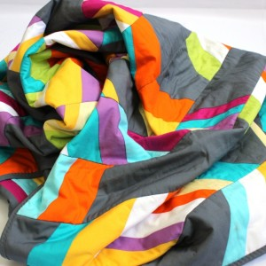 Neon and grey quilt