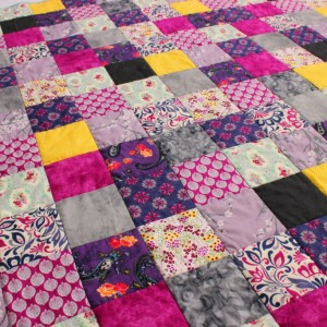 Purple berries quilt
