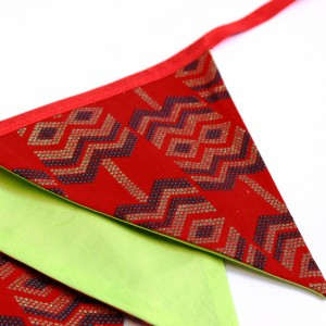 Red green bunting flags